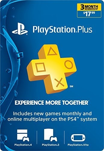3 Month PlayStation Plus Membership  – PS3/ PS4/ PS Vita [Digital Code]