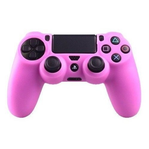 Goliton 2X Silicone rubber soft case Gel skin cover for Sony PlayStation 4 PS4 Controller -Pink