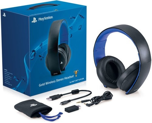 PlayStation Gold Wireless Stereo Headset – Jet Black Old Model