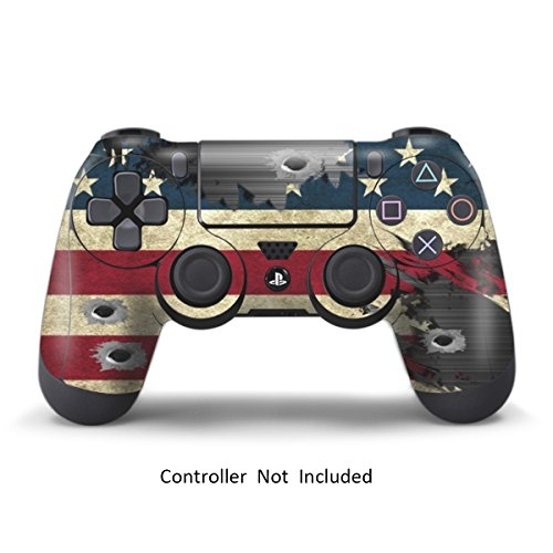 PS4 Controller Designer Skin for Sony PlayStation 4 DualShock Wireless Controller – Battle Torn Stripes