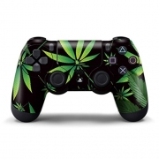 PS4 Controller Designer Skin for Sony PlayStation 4 DualShock Wireless Controller – Weeds Black